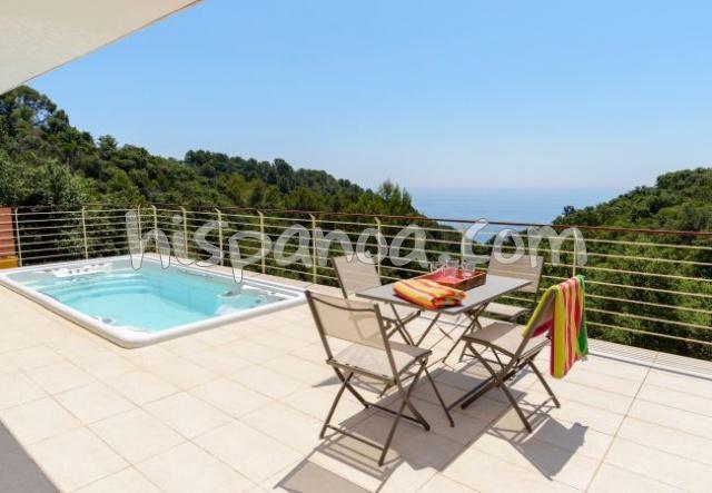 Lloret de Mar villa en location pour 8 pers avec belle vue mer
