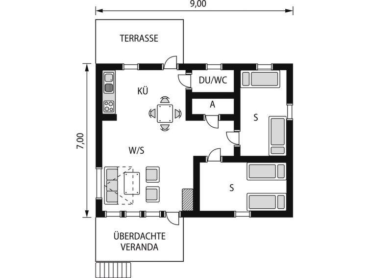 Maison pour 6 à Ullared