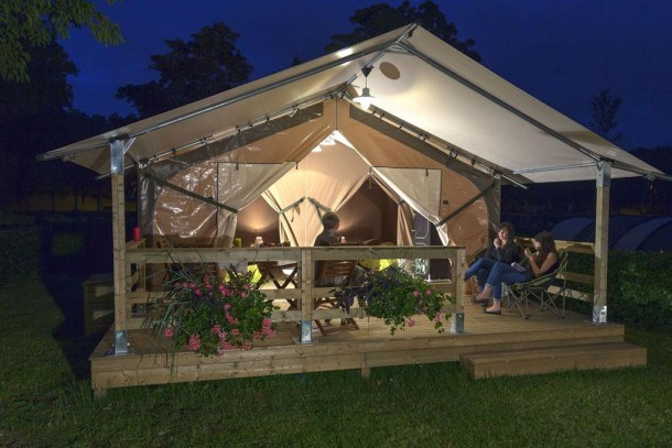 Camping La Buissiere - Mobil-home CONFORT 32m2 /2 chambres / terrasse couverte / TV