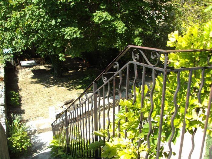 Le jardin vue du balcon