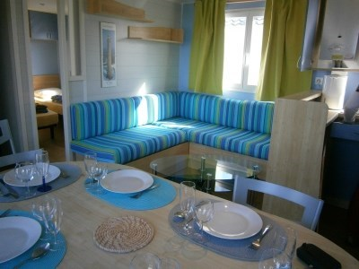Location 2 mobil homes Les Pieds dans l'Eau Louannec-Perros Guirec non loin du Village Préféré de...