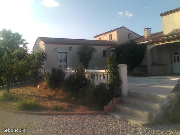 Loc. saisonnière Poss. Belle Villa Orientales/avec Piscine entre mer et montagne , vue sur Canigou,.