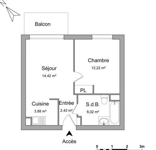 location appartement 38m brie comte robert seine et marne de particuliers et professionnels. Black Bedroom Furniture Sets. Home Design Ideas
