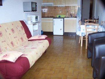 Dans une résidence de 1983, appartement 2 pièces au rez-de-jardin avec grande terrasse ouest face...