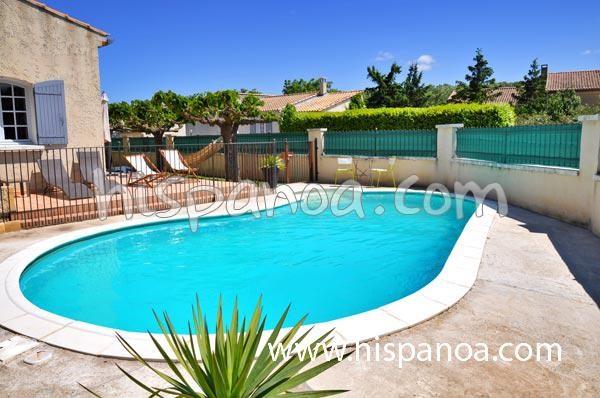 Location villa piscine Bouches du Rhône, villa vacances à Rognonas | 290