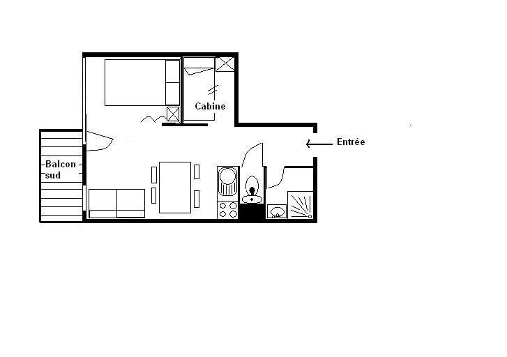 Studio cabine 4 personnes (0405)