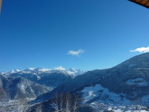Calme au pied des pistes de Valmorel avec vue panoramique sur les massifs de la Vanoise