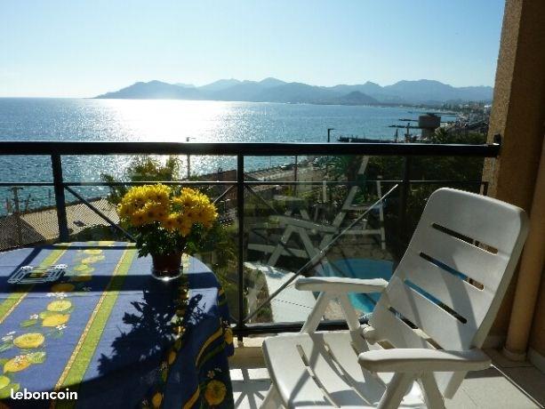 Location 2 pièces vue mer à Cannes la Bocca