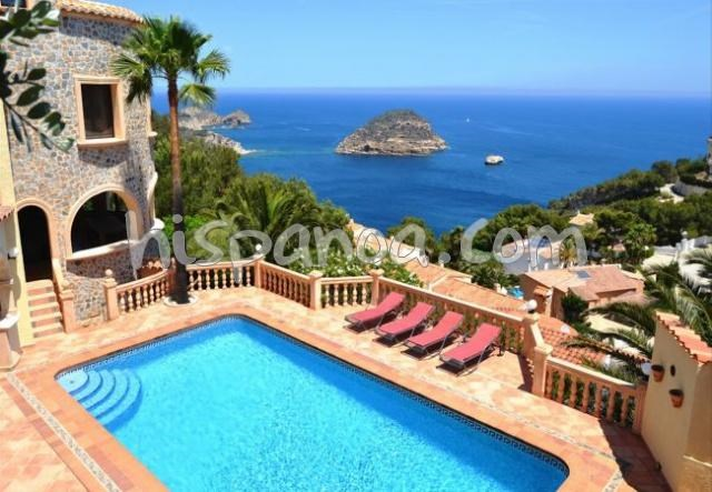 Location belle villa avec piscine privée et magnifiques vues mer à Javéa |5062