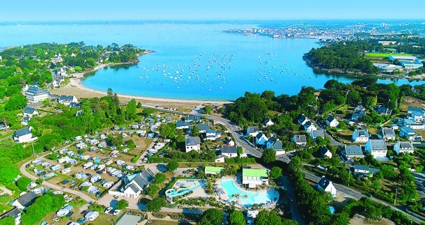 Camping le Cabellou Plage - mobil home 3 pers 2 chambres + wifi pour 2 appareils