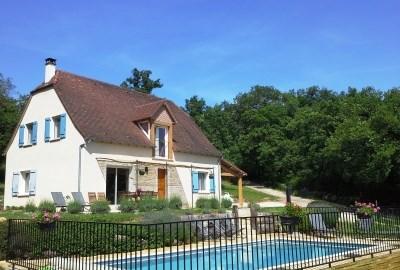 Gîte avec piscine privée WIFI climatisation babyfoot ping-pong Loubressac 8 à 10 personnes - Loubressac
