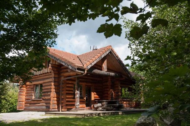 Beau chalet rondins tout confort à La Bresse proche domaine skiable wifi
