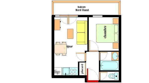 Appartement 2 pièces 4 personnes (A107)