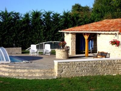 House cat happy with pool - Saint-Georges-de-Longuepierre