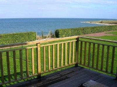 Maison ossature bois, pieds dans l'eau (accès direct à la plage)