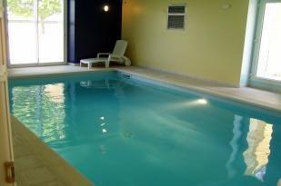 La piscine intérieure attenante au séjour