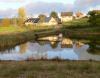 Les gîtes et l'étang