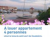 Appartement refait à neuf dans immeuble. Rez-de-chaussée, situé en face du petit port de Coudalère;