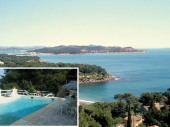 Gîtes de France Villa Fabregas - Laurence et Michel vous proposent convivialité, confort et calme dans cette maison dotée d'un vue imprenable sur la mer, la rade de Toulon et les îles d'Or, perchée sur une des plus belles collines du Cap Sicié et nichée d