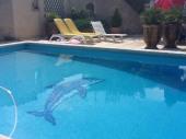 VIlla av jardin et piscine à Chateaurenard près de Saint-Rémy de Provence (sud)