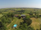 Gite de Pechine avec vue panoramic sur les  Pyrénées