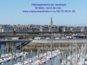 St-Malo, App idéal, Vue Mer, Accès direct plage des Sablons