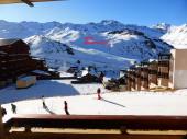 Val Thorens, appartement calme, plein sud; ski au pied pour 57 personnes