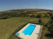 4P avec piscine 12m, golf sur place, vue, calme
