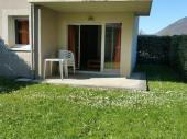 F 3  (35m2) 6 couchages,  R D C, terrasse et jardin privé expo SUD,  parking,  Résidence classée 3* (piscine chauffée)