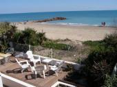 Maison mediterraneenne sur la plage