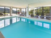 Pour 4-6 pers, location avec espace wellness, piscine intérieure, sauna, fitness
