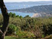 Les Bergeronnettes offrent, dans un domaine boisé de 100 ha avec accès direct à la plage de la Nartelle, une vue Exceptionnelle et Panoramique sur le Golfe de St Tropez.