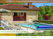 Gîte piscine privée vacances en campagne(domaine 8ha) étang de pêche, truites, saumon de fontaine, terrain de boules