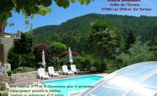 Gîte 3*** Rez de Jardin; espace vert, vue dégagée; Climatisation,  Piscine Couverte, IDÉAL Familles, Amis,  Accueil Vélo