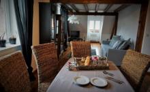 Maison ZEYSSOLFF loue gîte Opaline chez le viticulteur en Centre Alsace, à Gertwiller, village du Pain d'Epices