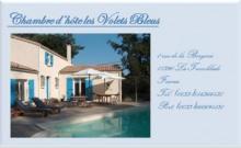 LES VOLETS BLEUS .Chambres d'hôtes avec piscine chauffée .Belle maison à 2 km de la mer.