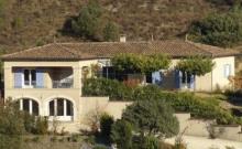 Villa provençale proche de Vallon Pont d'Arc avec vue panoramique