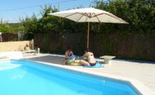 Les Lavandines: gîte 4 *, piscine, sauna, Ardèche sud