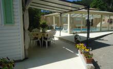Mobil home dans propriété privée avec piscine privée
