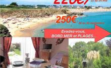 Dès 300€/sem Bord Mer plages ANCV COUPDECOEUR LE POULDU et Doëlan, gîte/maison neuf jard pkg 4P,pêche GR34
