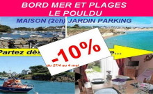 PROMO à 297€ Gîte/maison neuf jard pkg Bord Mer plages ANCV LE POULDU et Doëlan, pêche GR34