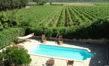 Gite domaine viticole, piscine chauffée 30 min mer