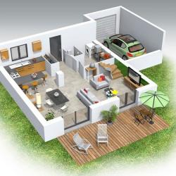 Maison  4 pièces + Terrain  575 m² Saint Romain en Gal