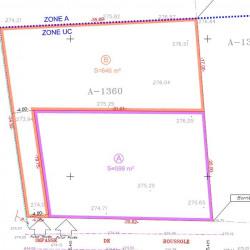 Terrain  de 600 m²  Chuzelles  (38200)