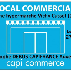 Location Local commercial Vichy 120 m²
