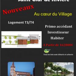 Maison  3 pièces + Terrain  150 m² Saint-Clar-de-Rivière