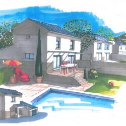 Maison  4 pièces + Terrain  802 m² Saint-Paulet-de-Caisson