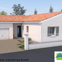 Maison  4 pièces + Terrain  1500 m² Thénac