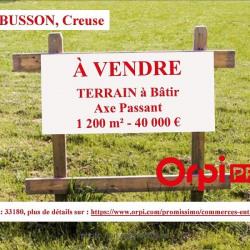 Vente Terrain Aubusson 1240 m²