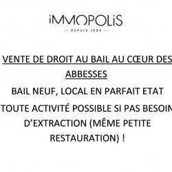 Cession de bail Local commercial Paris 18ème 28 m²